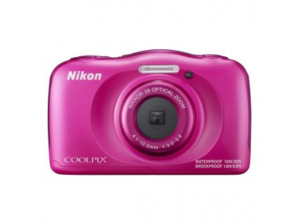 Fotoaparát Nikon Coolpix W100 růžový + dětský batoh ZDARMA