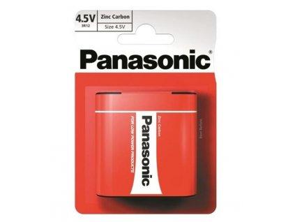 Baterie zinkouhlíková Panasonic 4,5V, 3R12, blistr 1ks