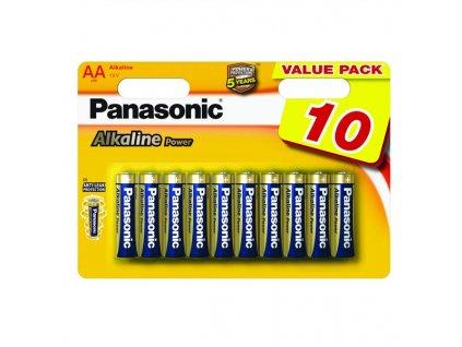 Baterie alkalická Panasonic ALKALINE POWER AA, LR06, blistr 10ks