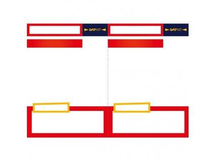 Cenovka Datart nová verze V2, formát A5, červená barva, balení 100 ks