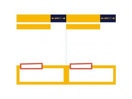 Cenovka Datart nová verze V2, formát A5, žlutá barva, balení 100 ks