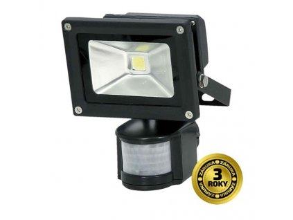 LED reflektor Solight 10W, studená bílá, 700lm, se senzorem - černý