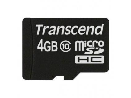 Paměťová karta Transcend MicroSDHC 4GB Class10