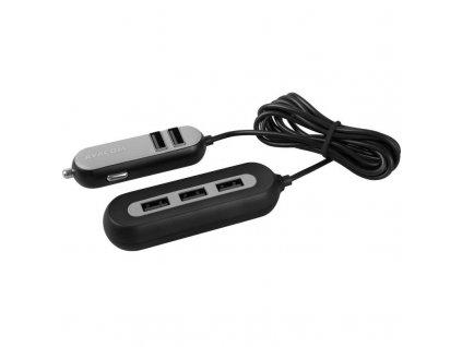 Adaptér do auta Avacom CarHUB 5x USB - černý