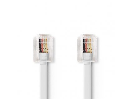Kabel Bandridge telefonní (RJ11), 10m - bílý