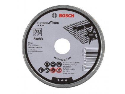 Kotouč řezný Bosch 115x1.0x22.23mm 10ks v plechovce