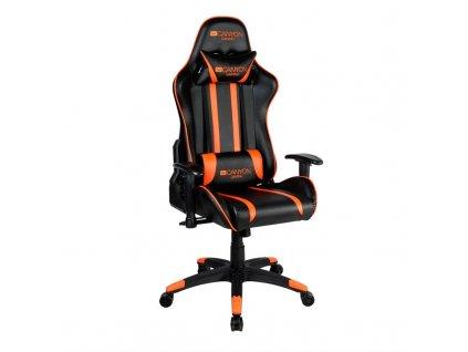 Herní židle Canyon Fobos - černá/oranžová