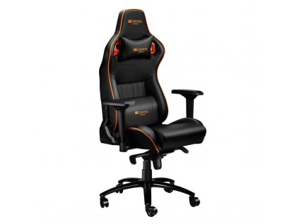 Herní židle Canyon Corax - černá/oranžová