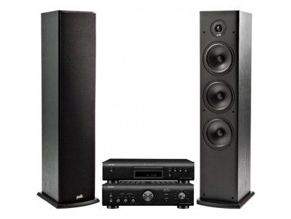 CD přehrávač Denon DCD-600NE + zesilovač + set reproduktorů Polk
