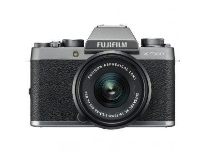 CSC fotoaparát FujiFilm X-T100 + XC15-45, stříbrný/černý