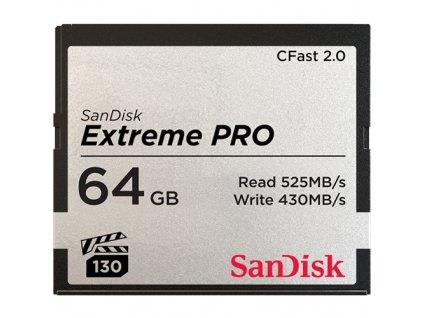 Paměťová karta Sandisk Extreme Pro CFast 2.0 64 GB (515R/430W)