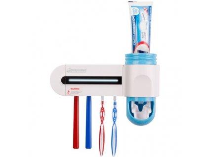 Bezdotykový dávkovač pasty a sterilizér zubních kartáčků Helpmation GFS-302