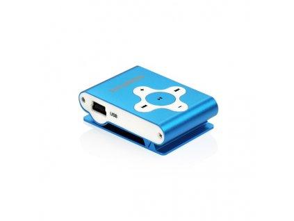 MP3 přehrávač Hyundai MP 212, micro SD slot, modrý
