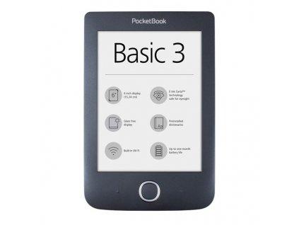 Čtečka e-knih Pocket Book 614+ Basic 3 - černá