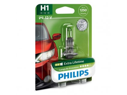 Autožárovka Philips LongLife EcoVision H1, 1ks