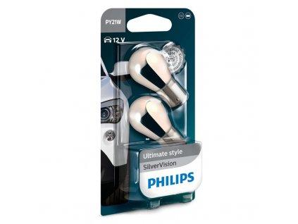 Autožárovka Philips SilverVision PY21W, 2ks