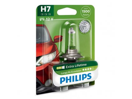 Autožárovka Philips LongLife EcoVision H7, 1ks