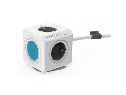 Kabel prodlužovací Powercube Extended SmartHome 1,5 m - bílý/modrý