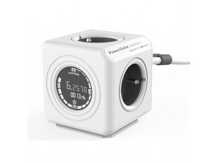 Kabel prodlužovací Powercube Extended Monitor 1,5 m - šedý/bílý