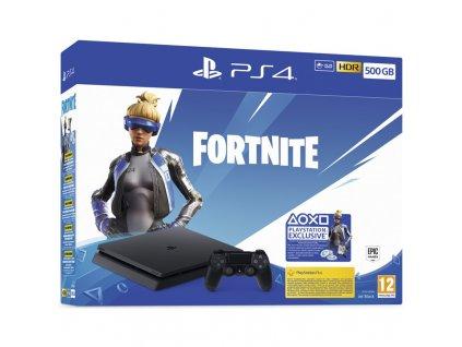 Herní konzole Sony PlayStation 4 500 GB + Fortnite balíček 2000 V Bucks - černá