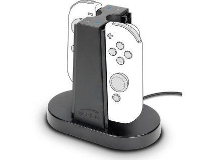 Dokovací stanice Speed Link Quad pro Nintendo Switch Joycon - černý