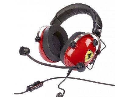 Headset Thrustmaster T.Racing Scuderia Ferrari Edition - černý/červený