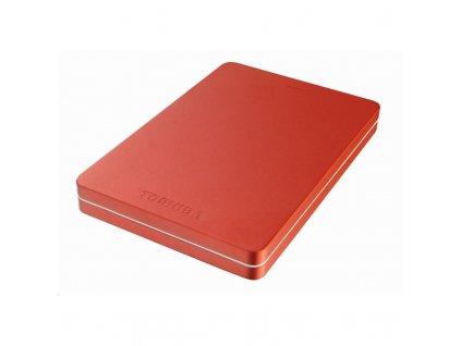 """HDD ext. 2,5"""" Toshiba Canvio Alu 1TB - červený"""
