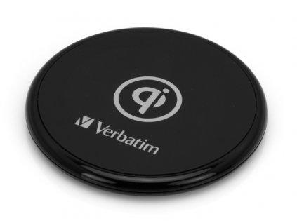 Bezdrátová nabíječka Verbatim Qi 10W, gumová - černá