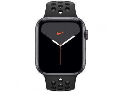 Chytré hodinky Apple Watch Nike Series 5 GPS 44mm pouzdro z vesmírně šedého hliníku - antracitový/černý sportovní řemínek Nike