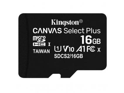 Paměťová karta Kingston Canvas Select Plus MicroSDHC 16GB UHS-I U1 (100R/10W)