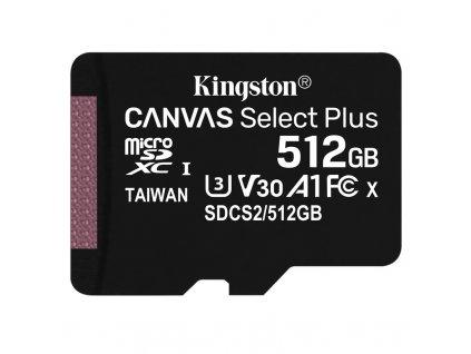 Paměťová karta Kingston Canvas Select Plus MicroSDXC 512GB UHS-I U1 (100R/85W)