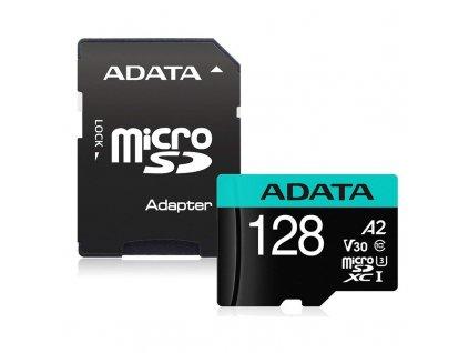 Paměťová karta ADATA Premier Pro MicroSDXC 128GB (100R/80W) + adaptér