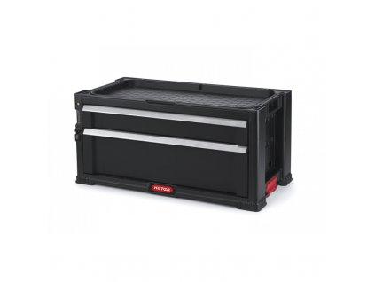 Kufr na nářadí Keter se 2 šuplíky, černý