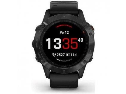 GPS hodinky Garmin fenix6 PRO Glass (MAP/Music) - černé