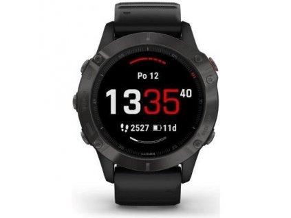 GPS hodinky Garmin fenix6 PRO Sapphire (MAP/Music) - černé/šedé