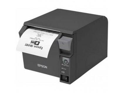 Tiskárna pokladní Epson TM-T70II pokladní, termosublimační, LAN, USB, 250 mm/s - černá