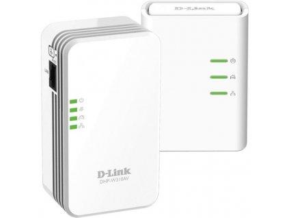 Síťový rozvod LAN po 230V D-Link DHP-W311AV PowerLine WiFi N Mini Extender 500 Mb/s, neprůchozí