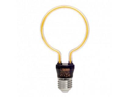 Žárovka LED Tesla design filament, 3,5W, E27, teplá bílá