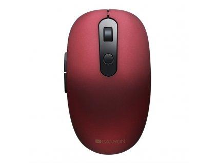 Myš Canyon CNS-CMSW09R / optická / 6 tlačítek / 1500dpi - červená