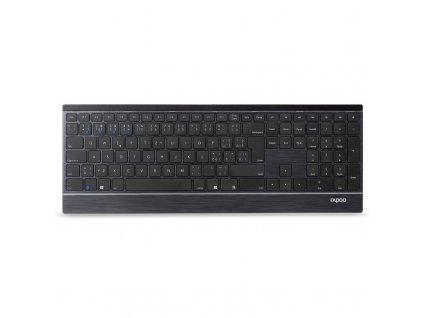 Klávesnice s myší Rapoo 9500M, CZ+SK layout - šedá