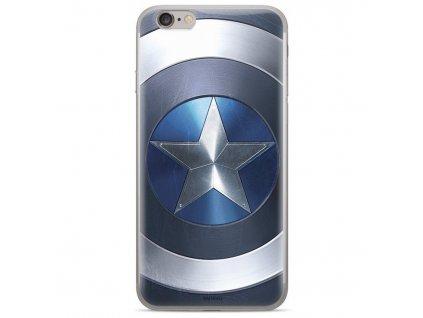 Kryt na mobil Marvel Captain America na Huawei Y6 Prime 2018 - modrý