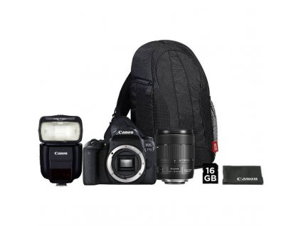 Set Canon EOS 77D + 18-135 IS USM + VUK + blesk 430EX III-RT