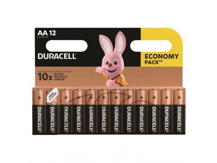 Baterie alkalická Duracell Basic AA, LR06, 1.5V, blistr 12ks