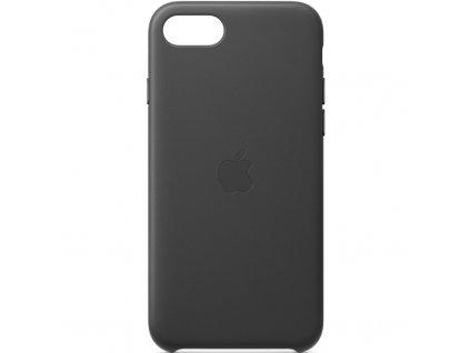 Kryt na mobil Apple Leather Case pro iPhone SE (2020) - černý