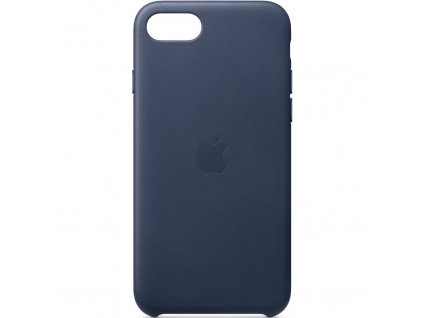 Kryt na mobil Apple Leather Case pro iPhone SE (2020) - půlnočně modrý