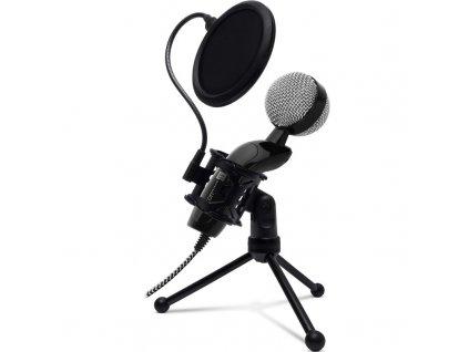 Mikrofon Connect IT YouMic Plus USB s POP filtrem - černý