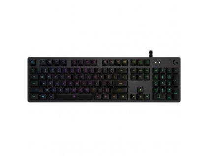 Klávesnice Logitech G512, RGB, GX Brown (hmatové), US - černá