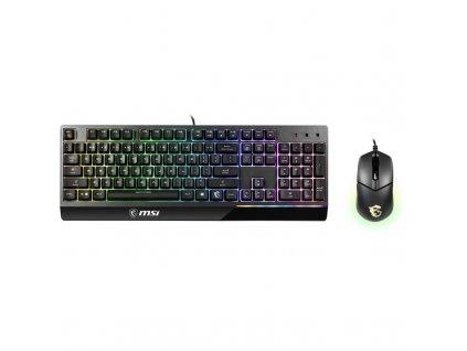 Klávesnice s myší MSI Vigor GK30 COMBO, CZ+SK layout - černá
