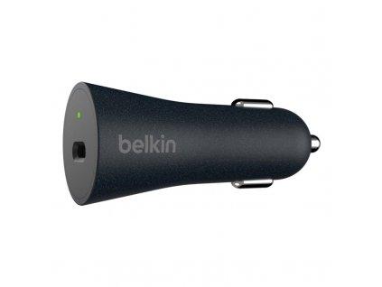 Adaptér do auta Belkin USB-C + kabel 1,2m USB-C QC 4+ - černý