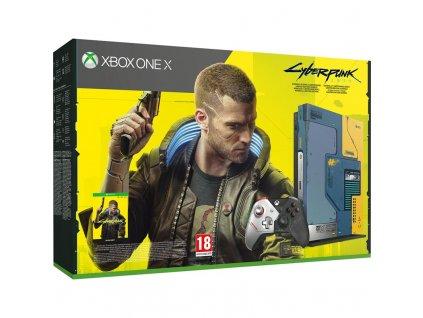 Herní konzole Microsoft Xbox One X 1 TB Cyberpunk 2077 Limited Edition